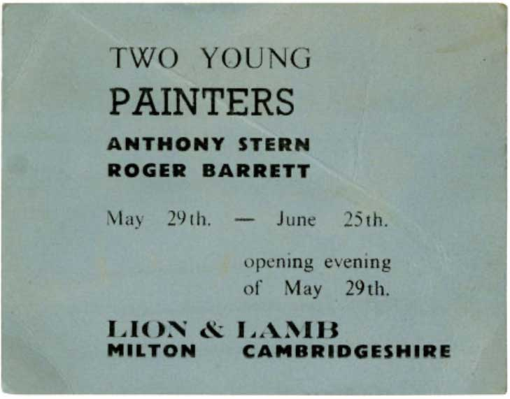 The ticket to anthony sterns paiinting show