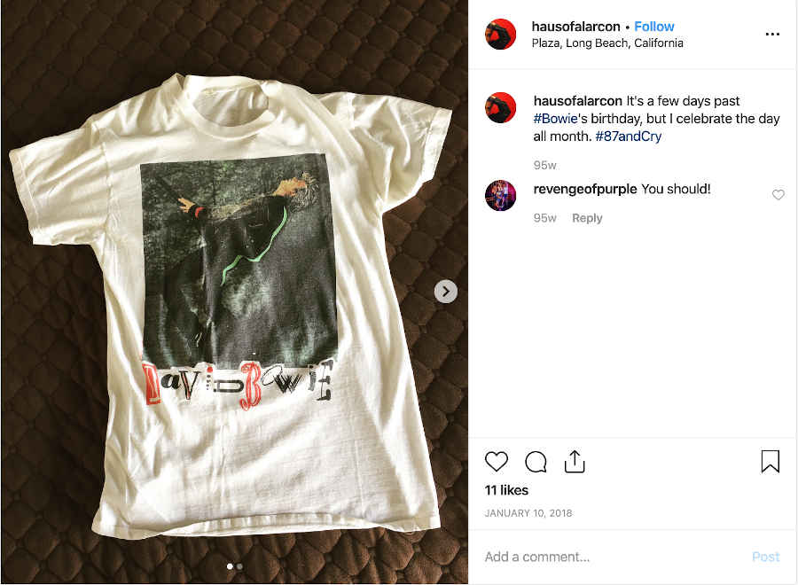 Bowie Tee on Instagram
