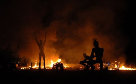 burning man scene