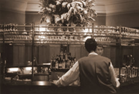 Her Haunch Joe Ambrose waits and waits at the Clarence Hotel Bar