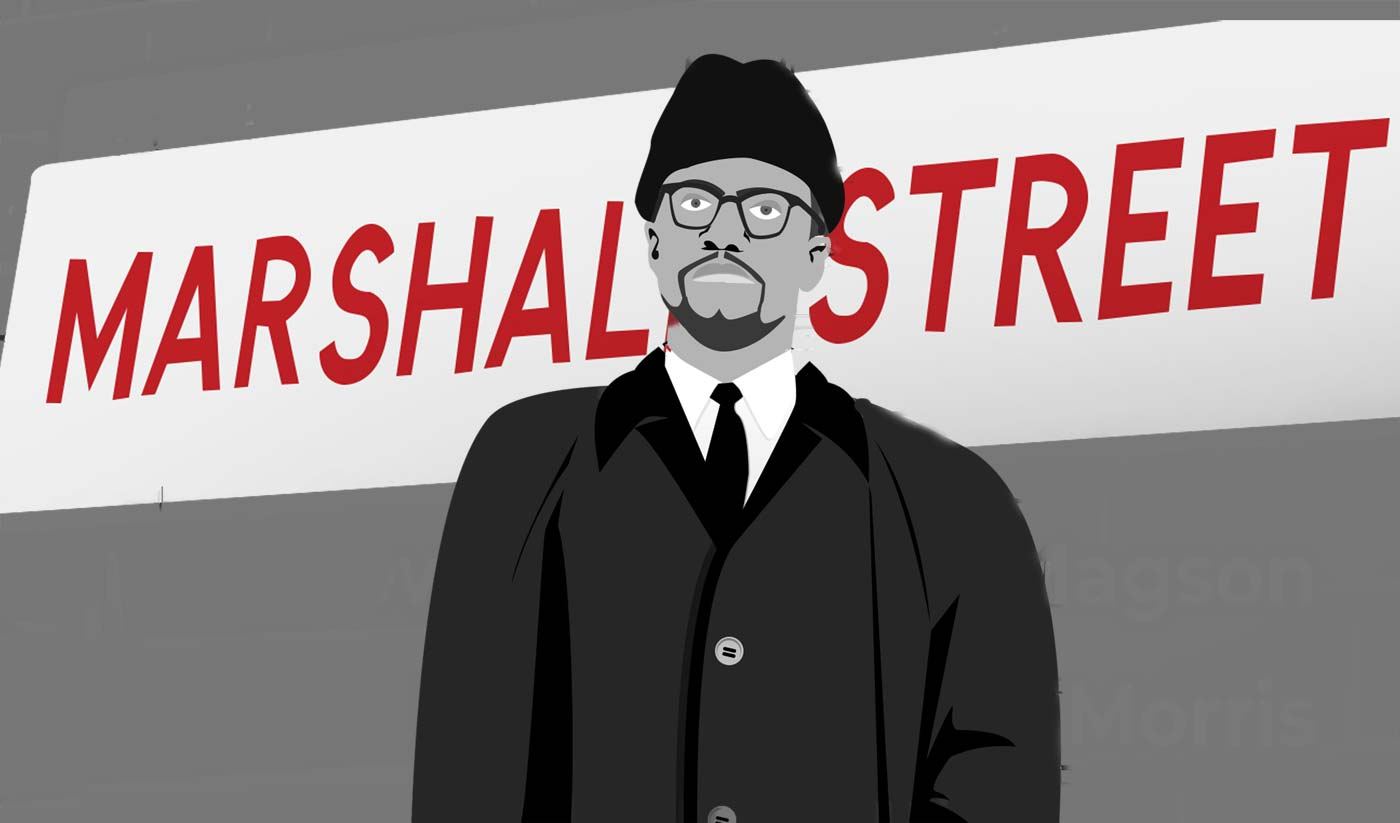 Malcolm X Over Bearwood & Elsewhere Paul Magson's play, Marshall Street, recounts Malcolm X's visit to Smethwick...