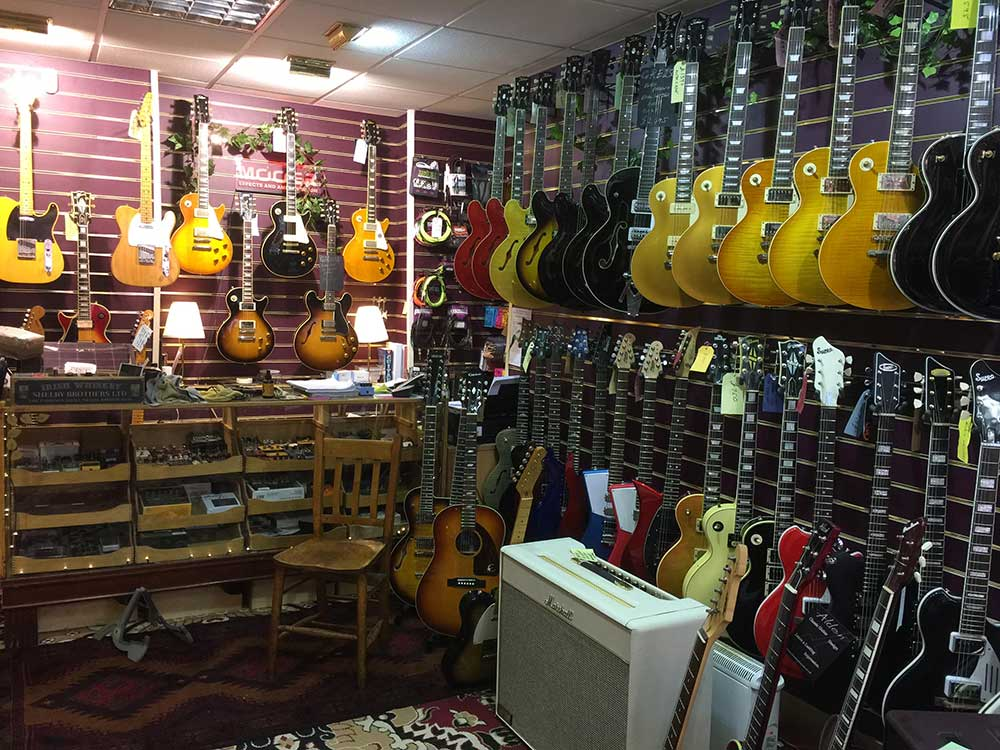 Wall of great Guitars